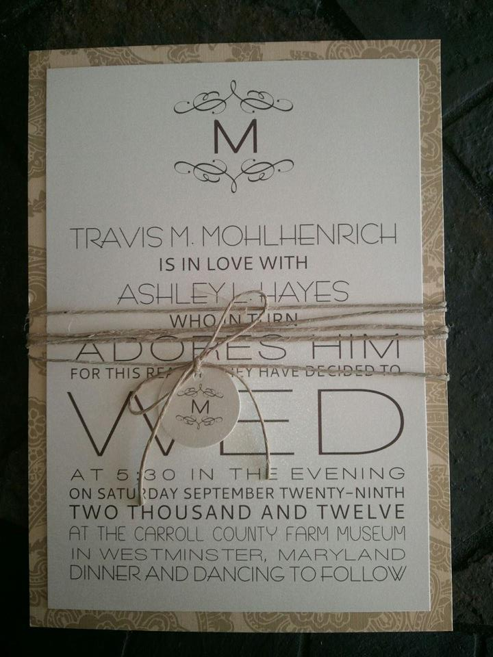 Country Wedding Invitation Templates