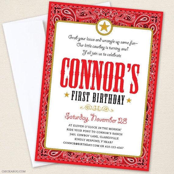 Country Western Party Invitations