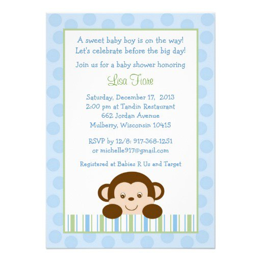 Create Monkey Baby Shower Invitations Free