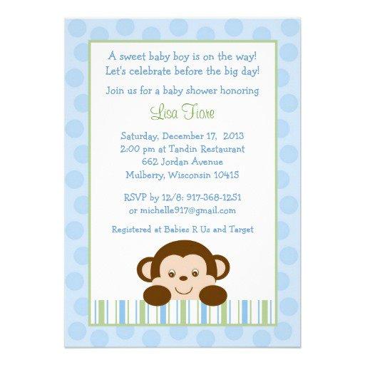 Create Monkey Baby Shower Invitations Free