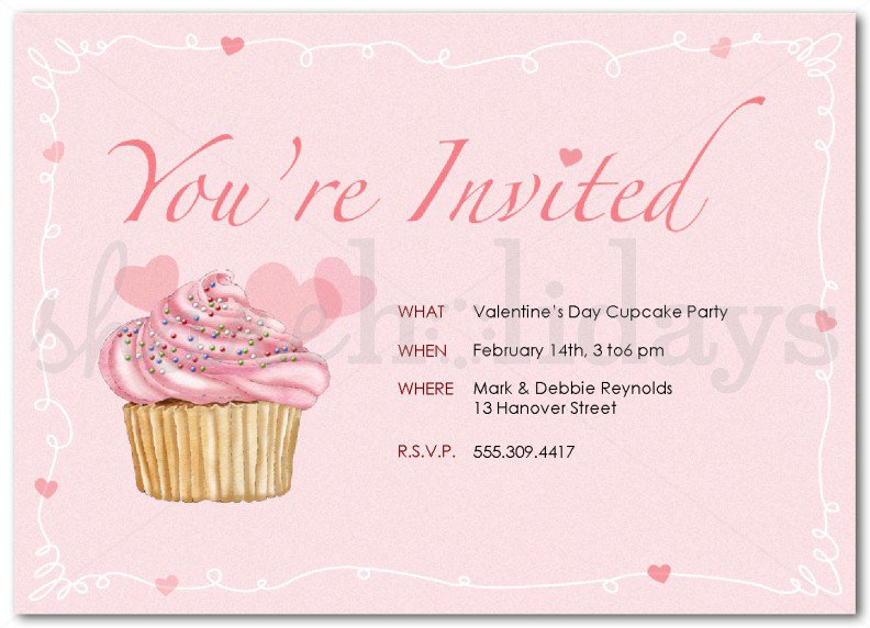 Cupcake Template Design : Cupcake Invitation Templates
