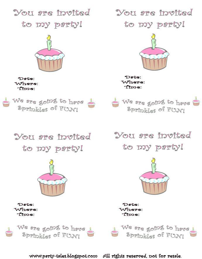 Cupcake Invitation Templates Free