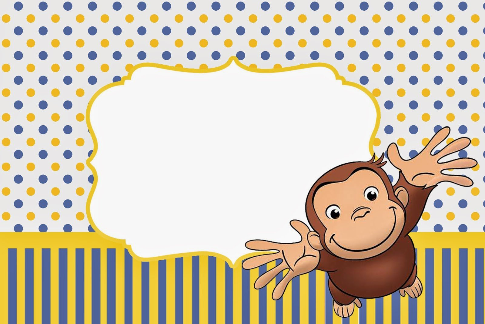 Curious George Invitations Free