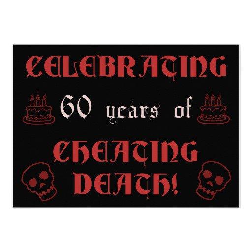 Custom 60th Birthday Invitations