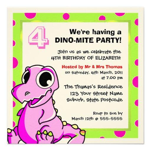 Custom Dinosaur Invitations