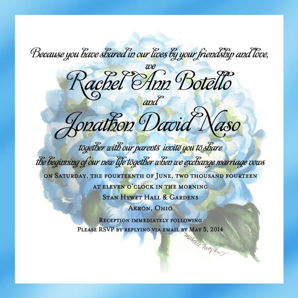 Custom Electronic Wedding Invitations