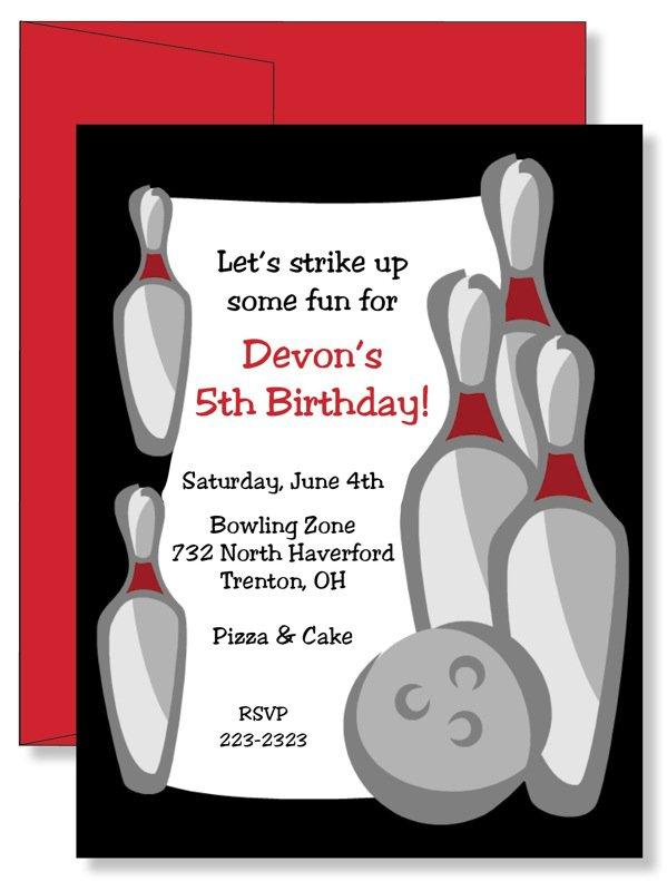 Custom Printed Invitations Birthday
