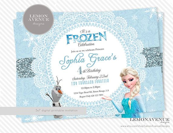 Customizable Frozen Party Invitations