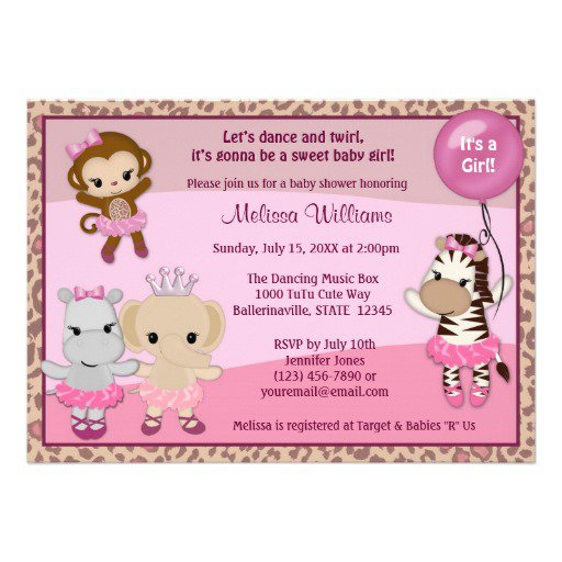 Cute Baby Girl Shower Invitations Sayings
