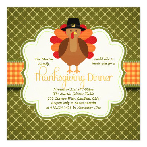 Cute Thanksgiving Invitations