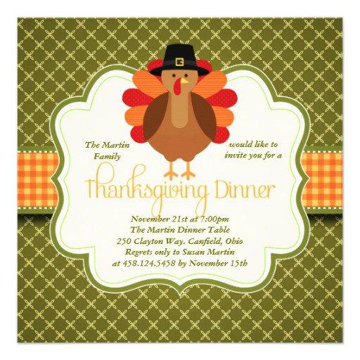 Cute Thanksgiving Invitations
