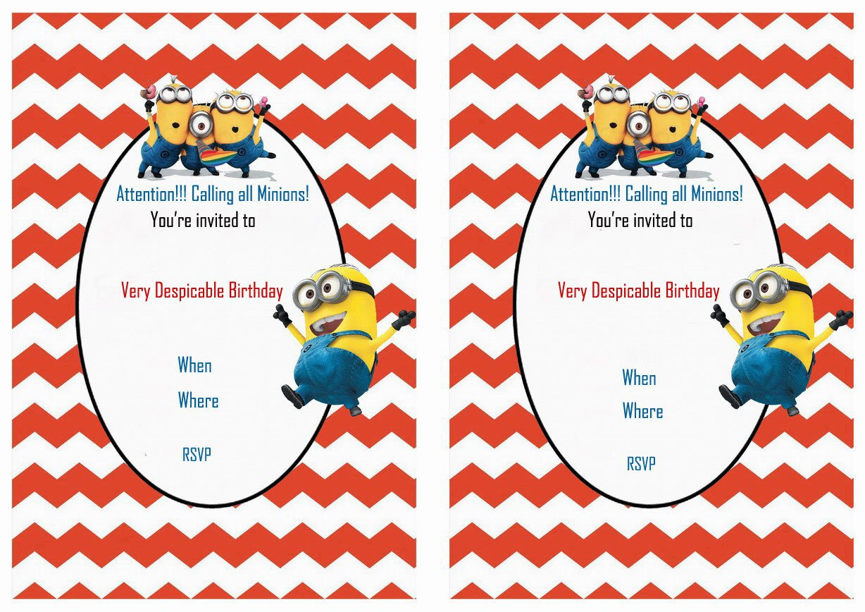 Despicable Me Invitations Printable