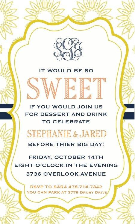 Dessert Reception Invitation Wording – Reception Party Invitations