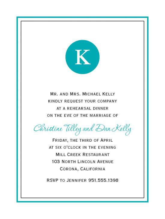 Dinner Invitation Wording