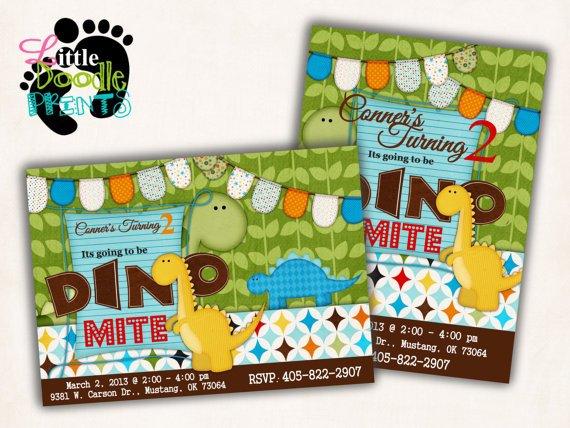 Dino Birthday Invitations