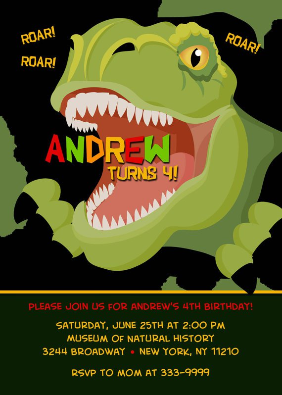 Dinosaur Birthday Custom Invitations