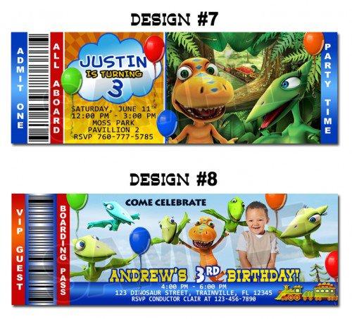 Dinosaur Custom Invitations