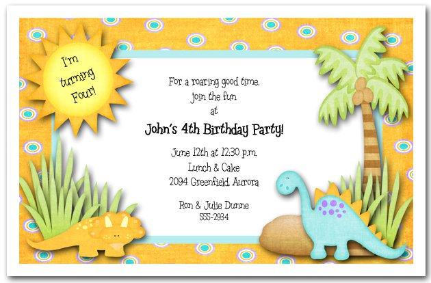 Dinosaur Party Invitation Templates