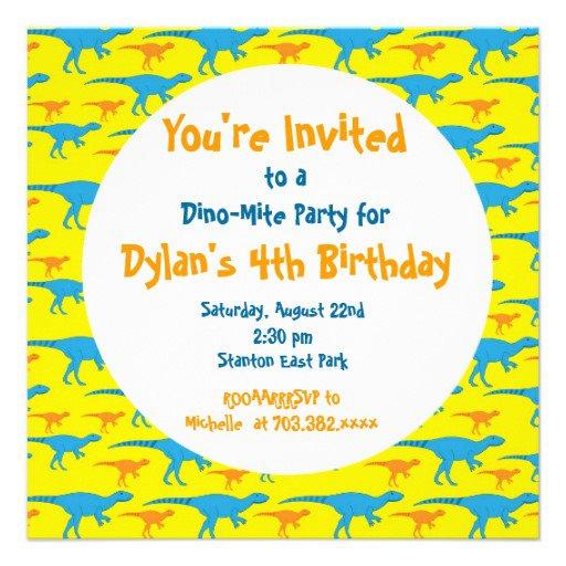 Dinosaur Train Invitation Templates