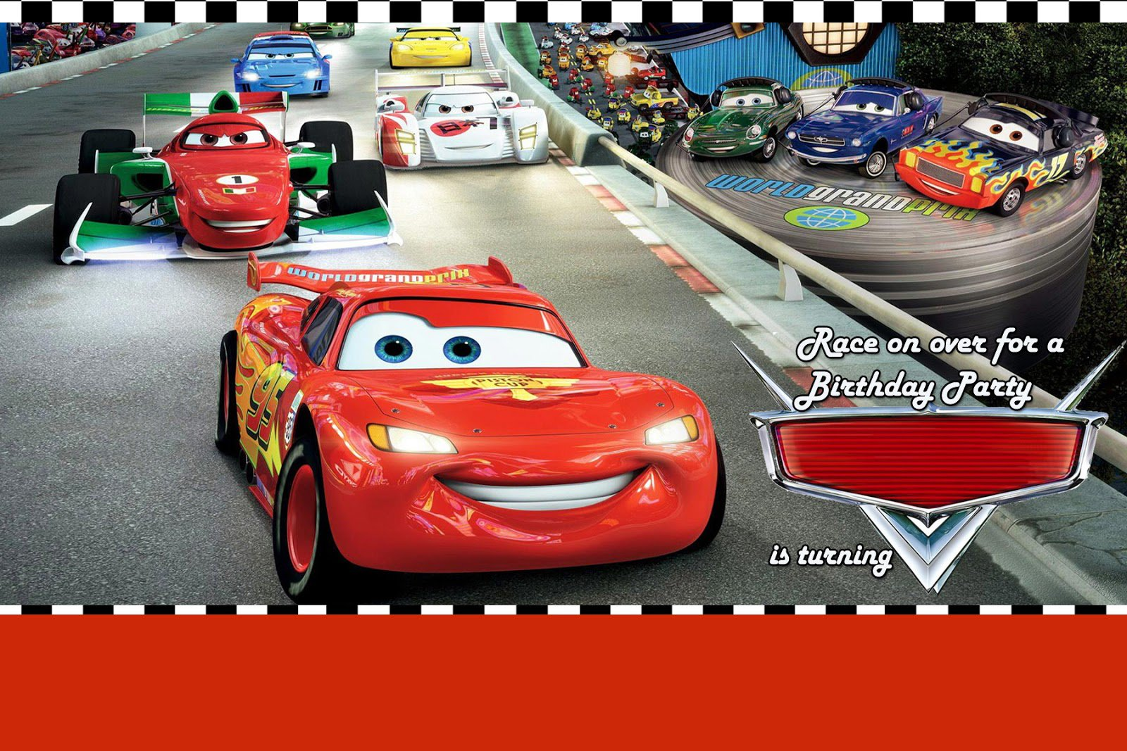 Disney Cars Birthday Party Invitations printed wedding place cards – Disney Cars Birthday Cards