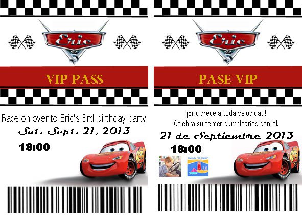 Disney Cars Birthday Party Invitations – Disney Cars Birthday Invites