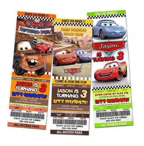 Disney Cars Party Custom Invitations