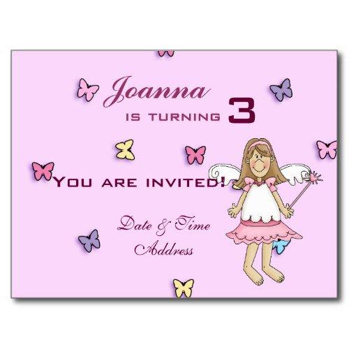 Disney Fairy Birthday Party Invitations