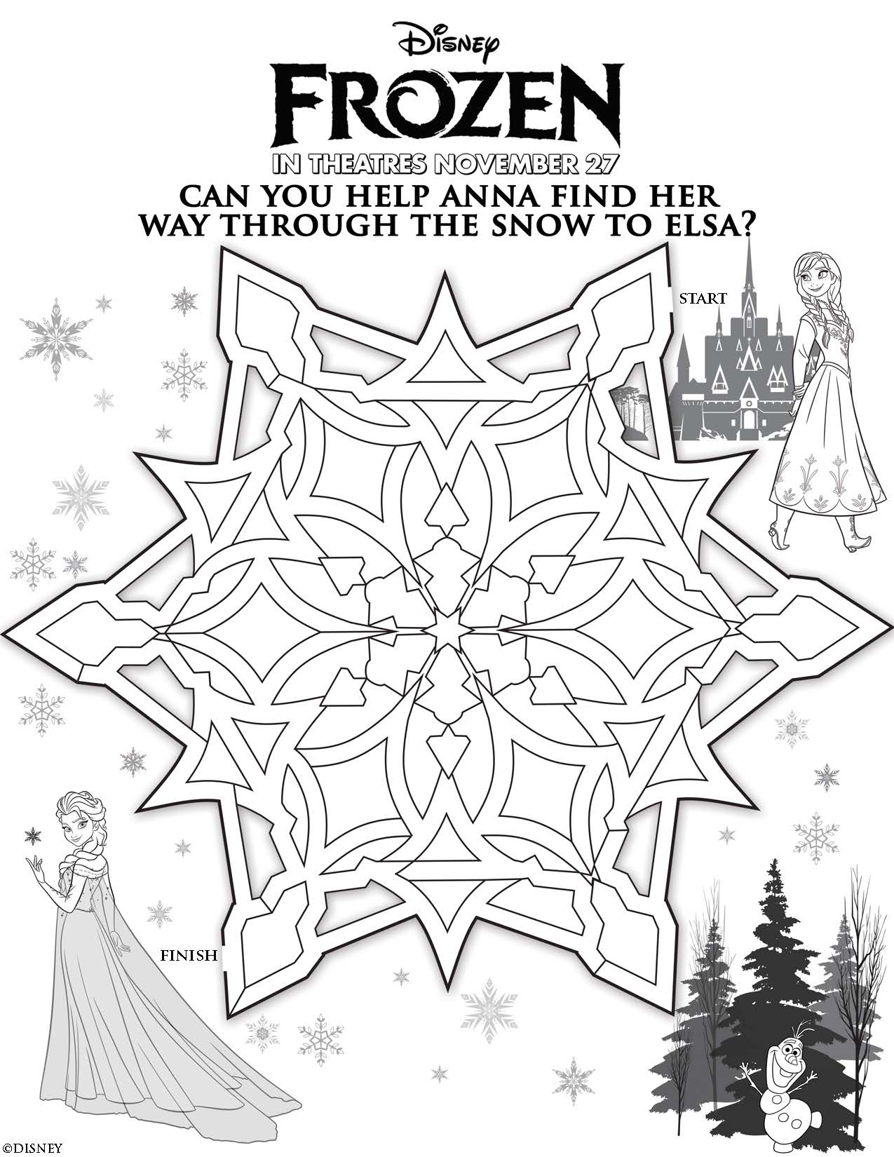 Disney Frozen Coloring Pages Pdf