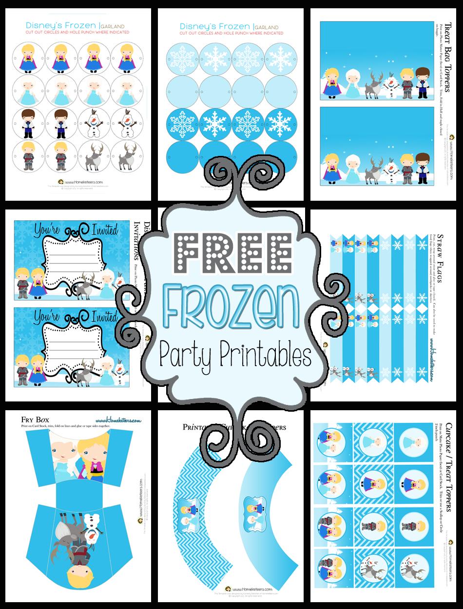 Disney Frozen Invitations Printables