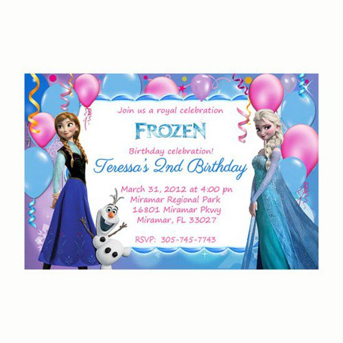Disney Frozen Party Invitation Templates