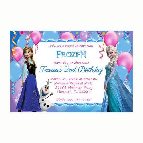 Disney Frozen Invitation Templates