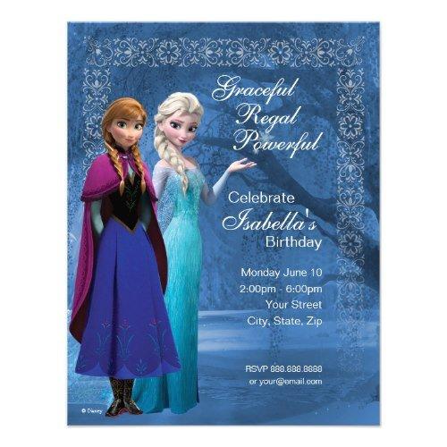 frozen themed invitations