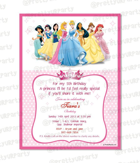 Disney Invitation Templates