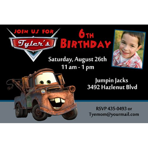 Disney Mater Birthday Invitation