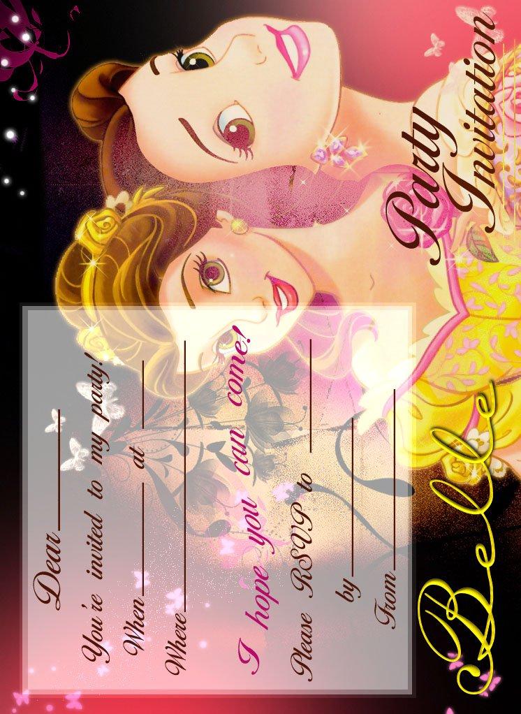Disney Princess Invitations To Print