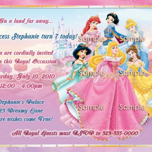Disney Princess Party Invitation Wording
