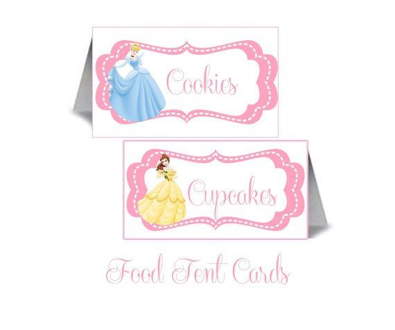 Disney Princess Printable Invitation Cards