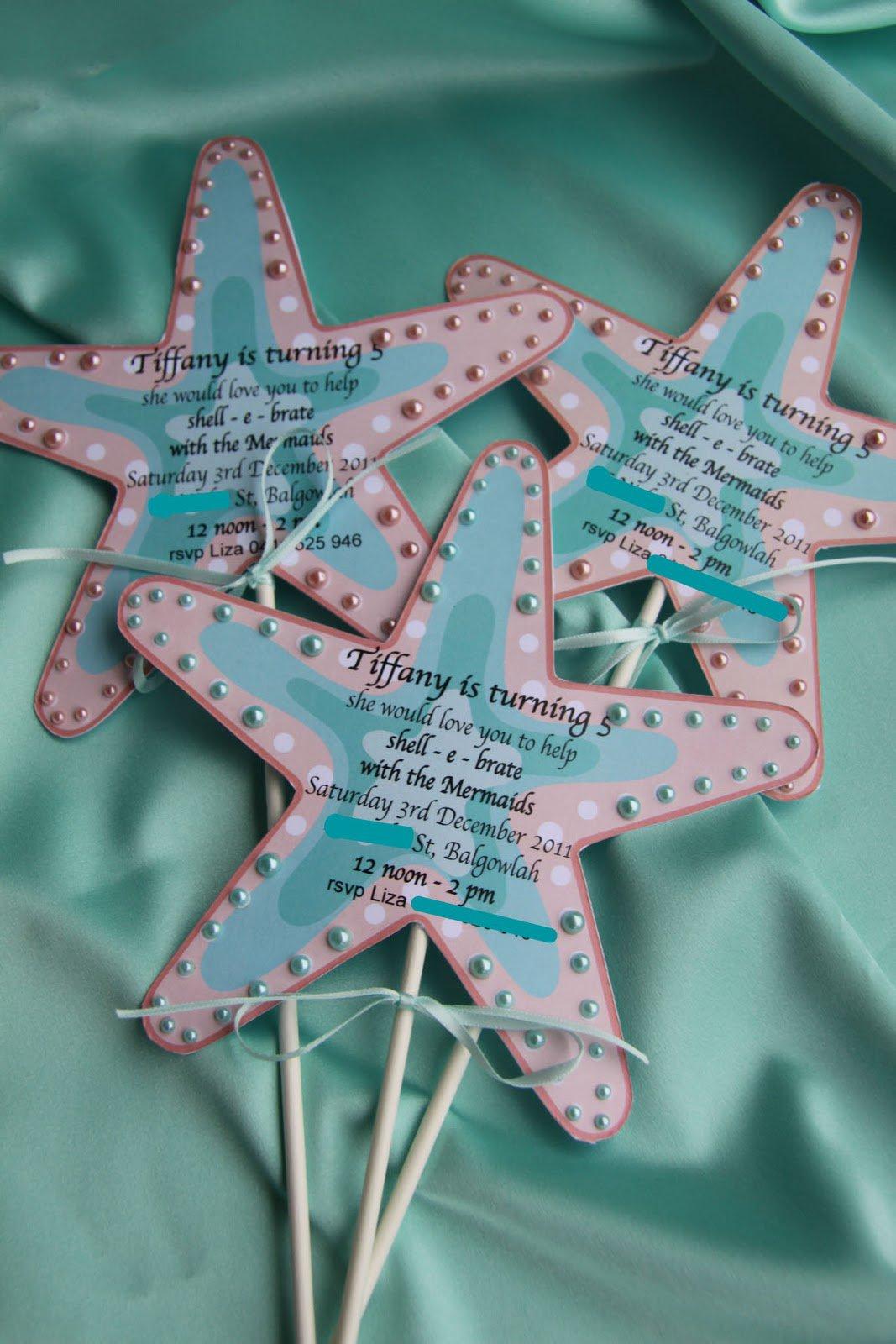 Diy Little Mermaid Party Invitations