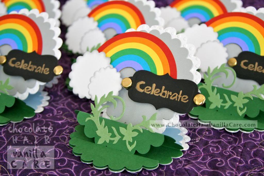 homemade rainbow birthday invitations