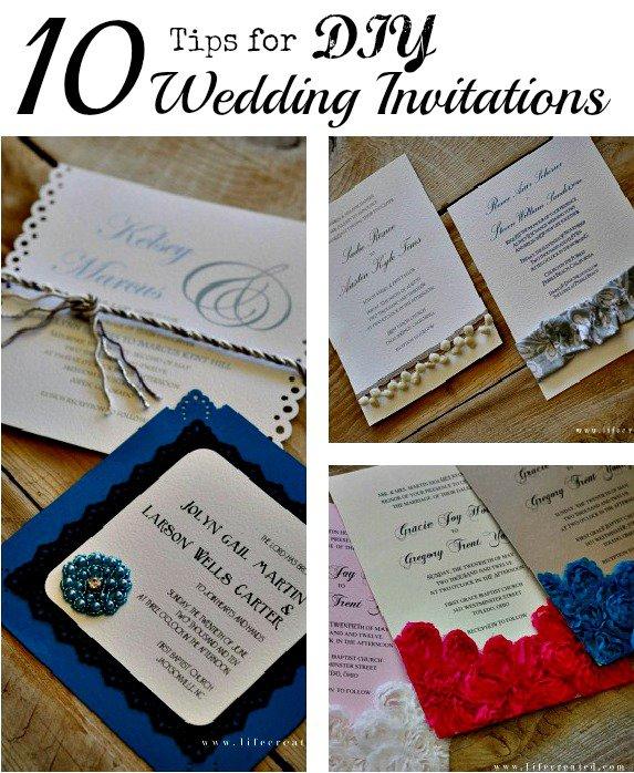 Diy Spring Wedding Invitations