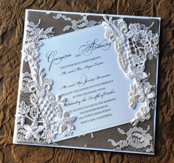 Diy Vintage Romantic Wedding Invitations