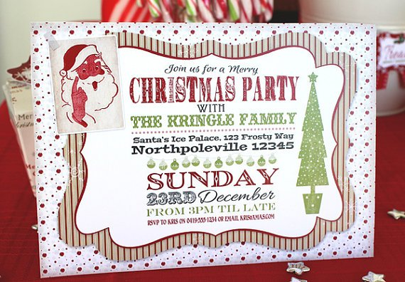 Do It Yourself Christmas Party Invitations