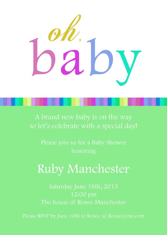 Do It Yourself Invitations Baby Shower