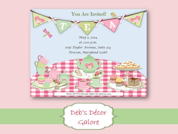Do It Yourself Tea Party Invitations