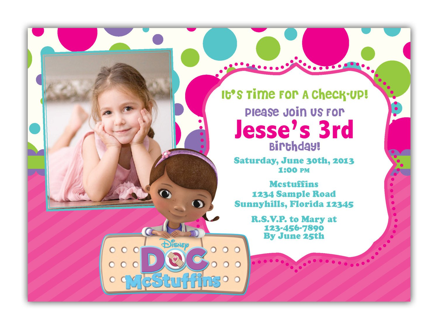 Doc Mcstuffins Birthday Invitations