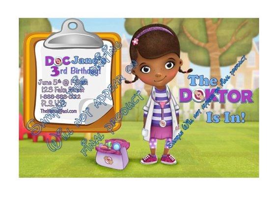 Doc Mcstuffins Birthday Invitations Online