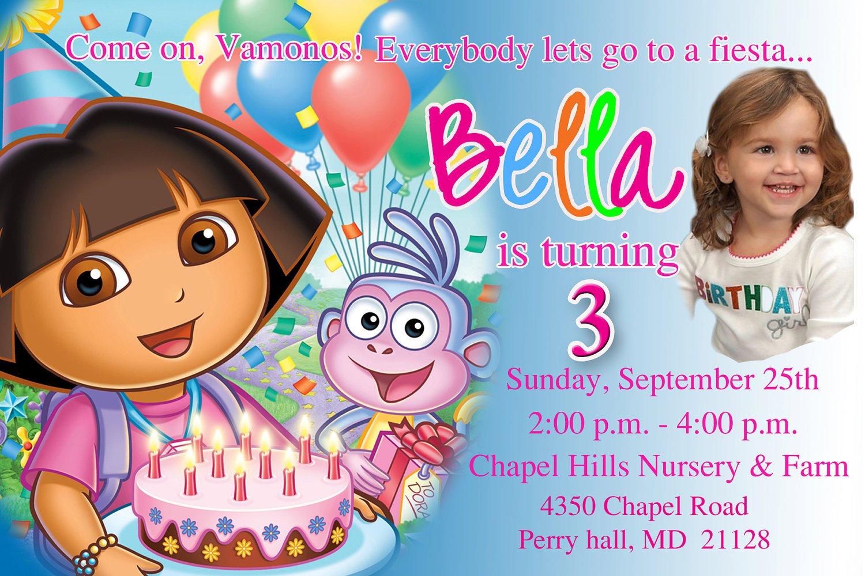 Dora Invitation Wording