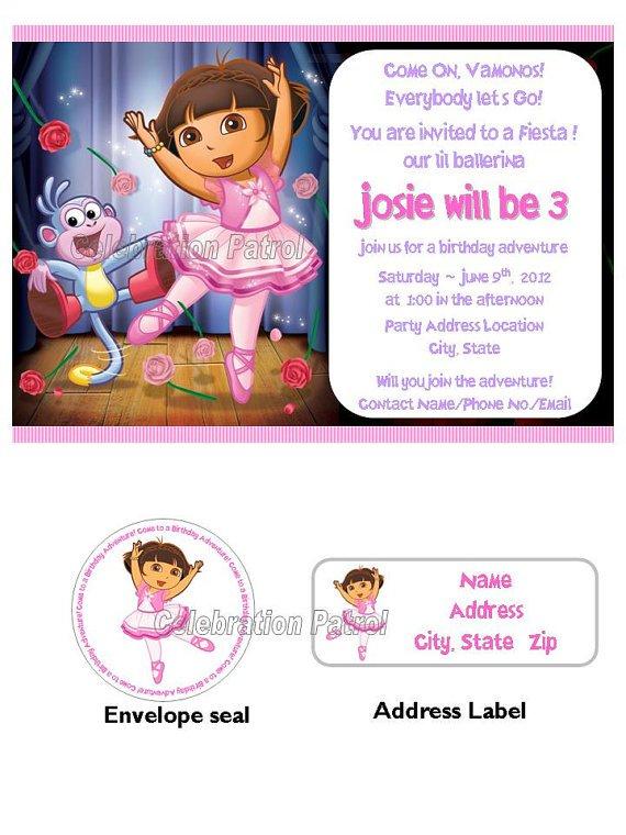 Dora Invitations Wording