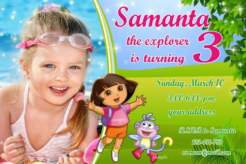 Dora The Explorer Birthday Invitations Templates Free