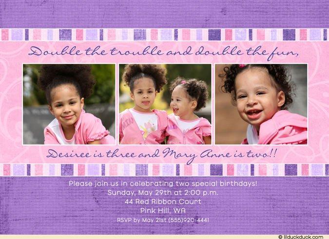 Double Trouble Birthday Invitations